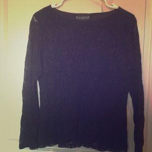 Tops - Lace Blouse-black